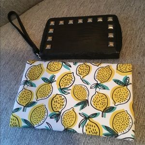 🍋 Cellphone wristlet wallet and bonus makeup bag